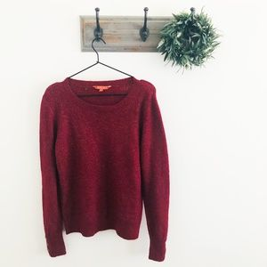 Modcloth Red Button Sleeve Sweater L